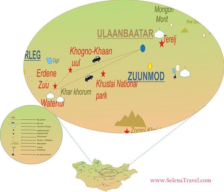 Naadam Festival tour map