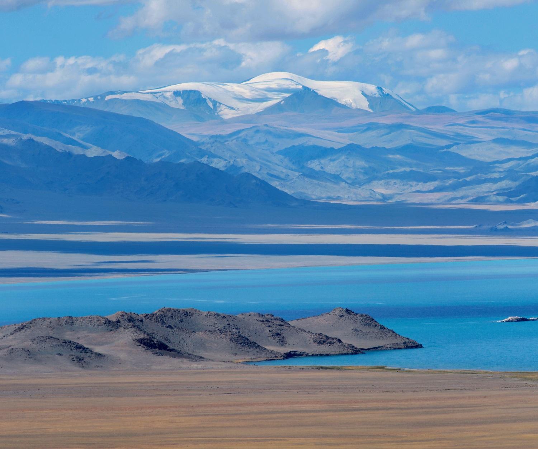 Uureg lake in Uvs province, Mongolia