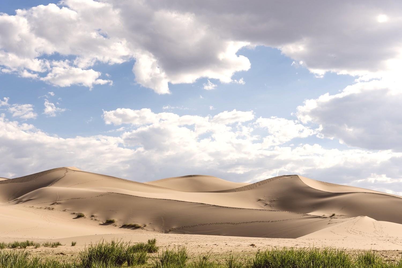 Khongor Sand dunes in Gobi desert