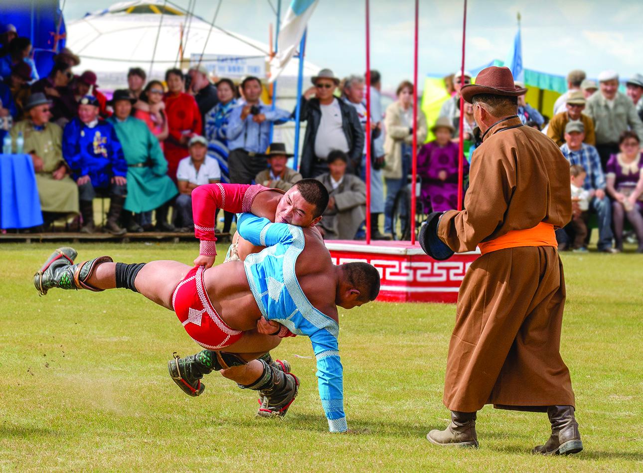 Mongolia Naadam Wrestling