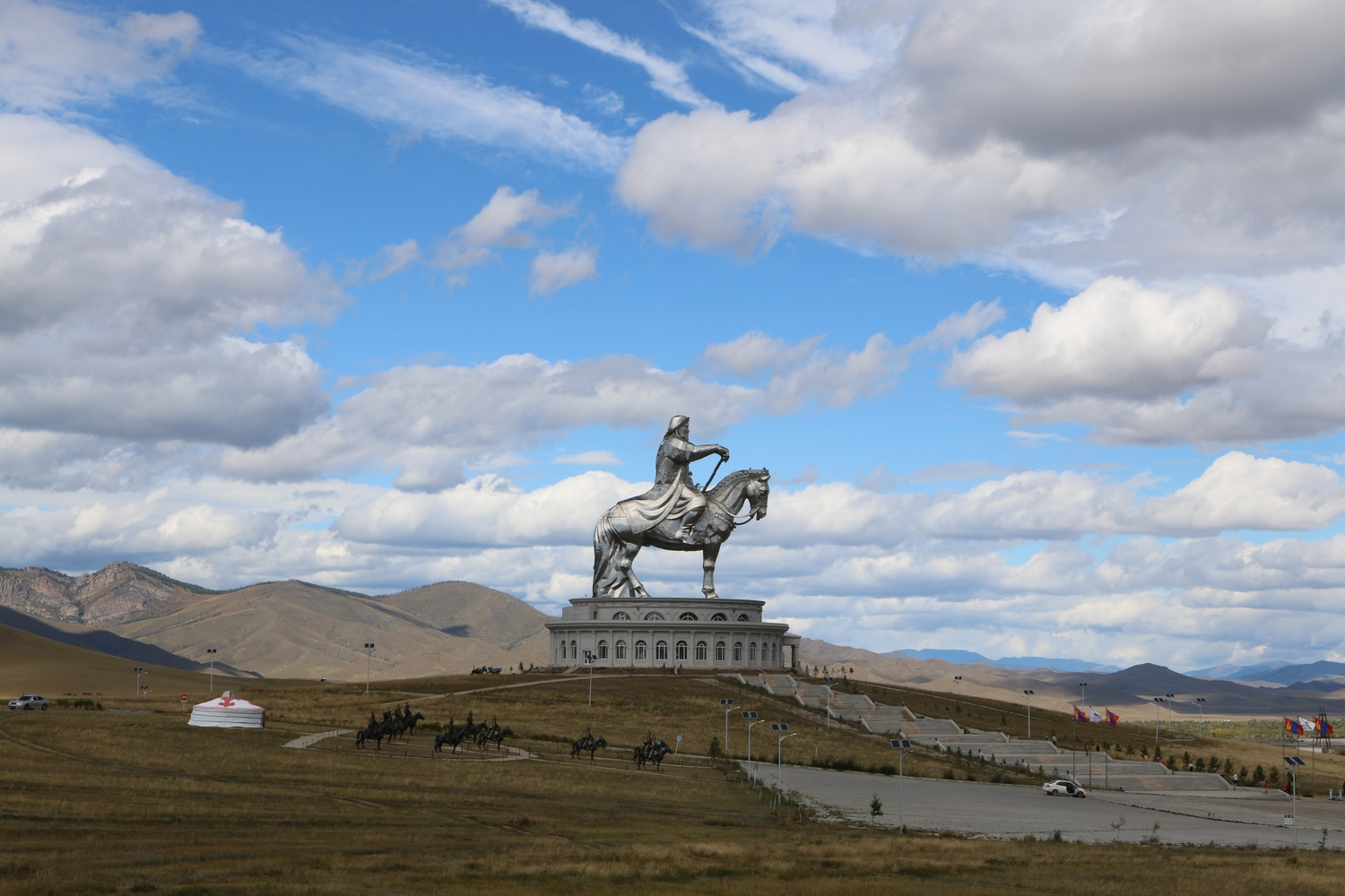Statue of Chinggis Khan at Terelj National park
