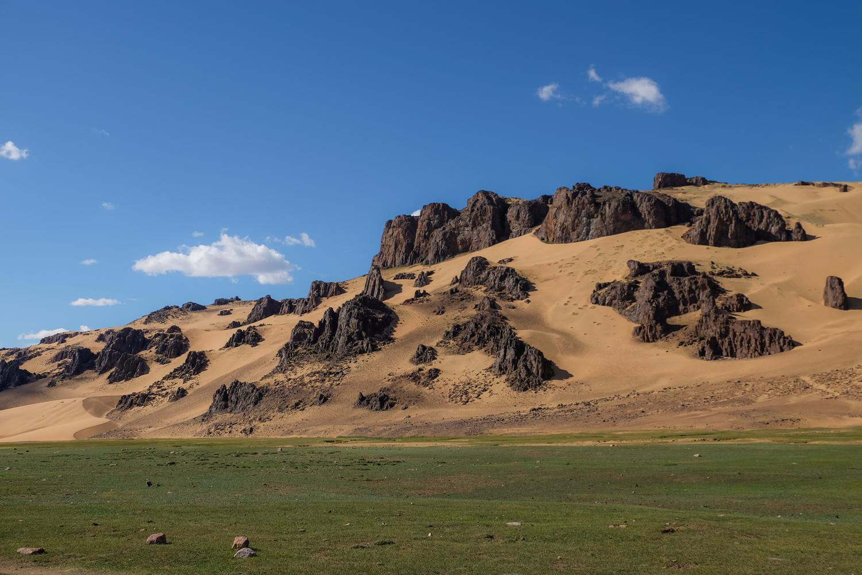 Bor Khyar Sand dunes in Zavkhan province Mongolia