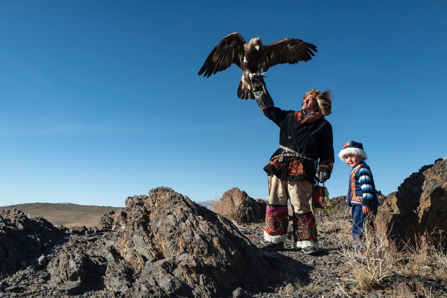 Eagle hunter in Western part of Mongolia