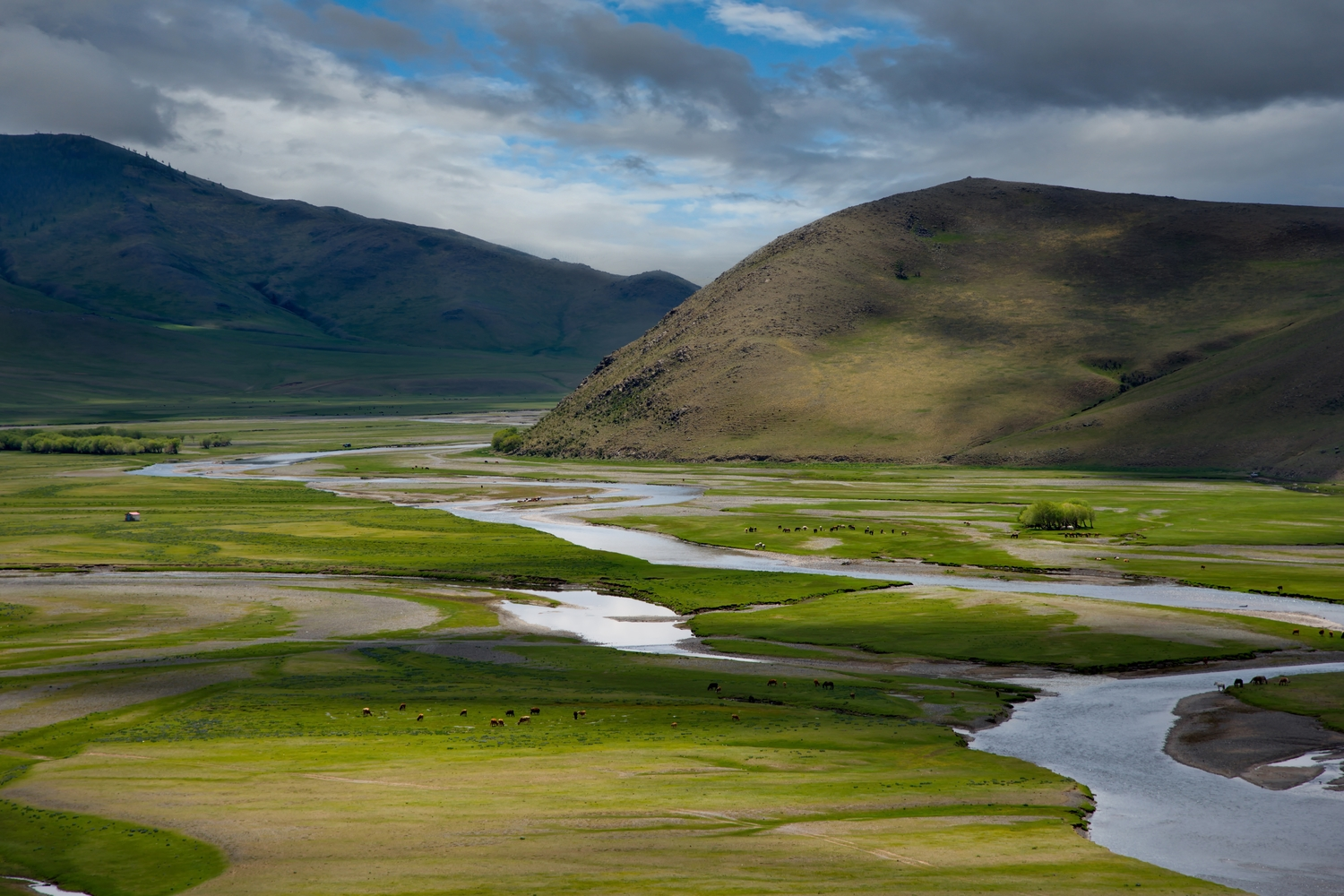 the UNESCO world heritage site Orkhon river valley