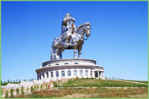Genghis Monument - Giant exquestrian monument