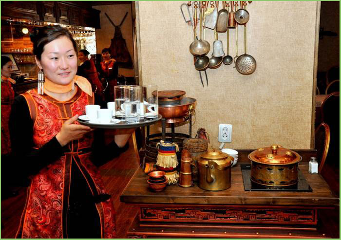 mongolian restaurant, traditional food & beverages in Mongolia